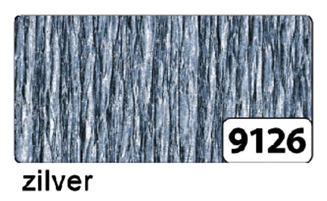 ,Crepepapier Folia rol 250x50cm nr9126 zilver