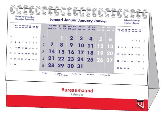 ,Bureau-maandkalender 2021