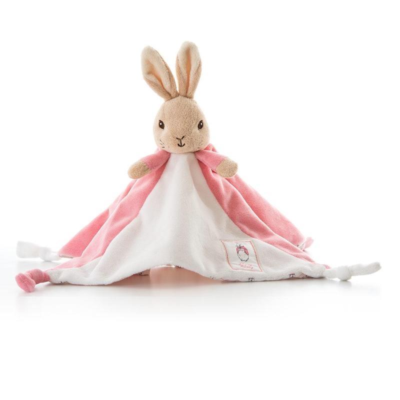 ,Peter Rabbit knuffeldoekje/tutje roze 30cm (6x in verpakking)