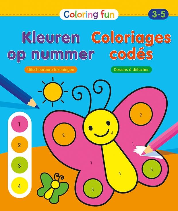 ZNU,Kleuren op nummer (3-5 j.) Coloriages codés (3-5 a.)