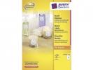 ,etiket Avery 60mm rond wit 100 vel 12 etiketten per vel