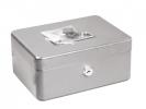 ,geldkistje Alco 200x150x95mm staal zilver