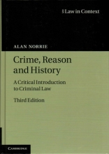 Norrie, Alan Crime, Reason and History