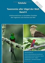 Fotolulu Taxonomie aller Vögel der Welt - Band II