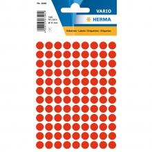 , Etiket Herma 1846 rond 8mm fluor rood 540stuks