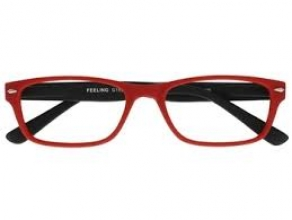, Leesbril +3.00 Feeling rood-zwart