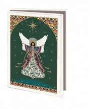 Mcw229 , Kerstkaart mapje 10 stuks met env engel paula doherty
