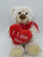 , Beer - hart - i love you - knuffel - pluche
