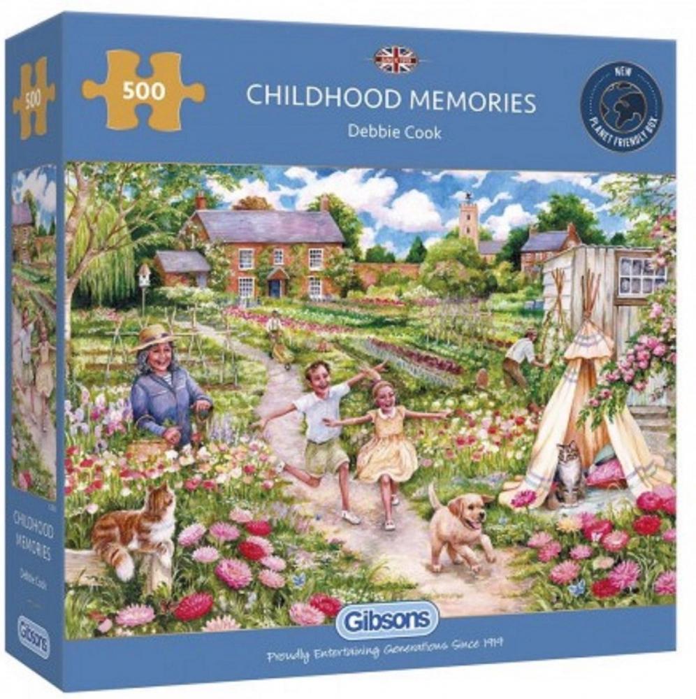 Gib-g3126,Puzzel gibsons childhood memories 500 stukjes 48x34cm