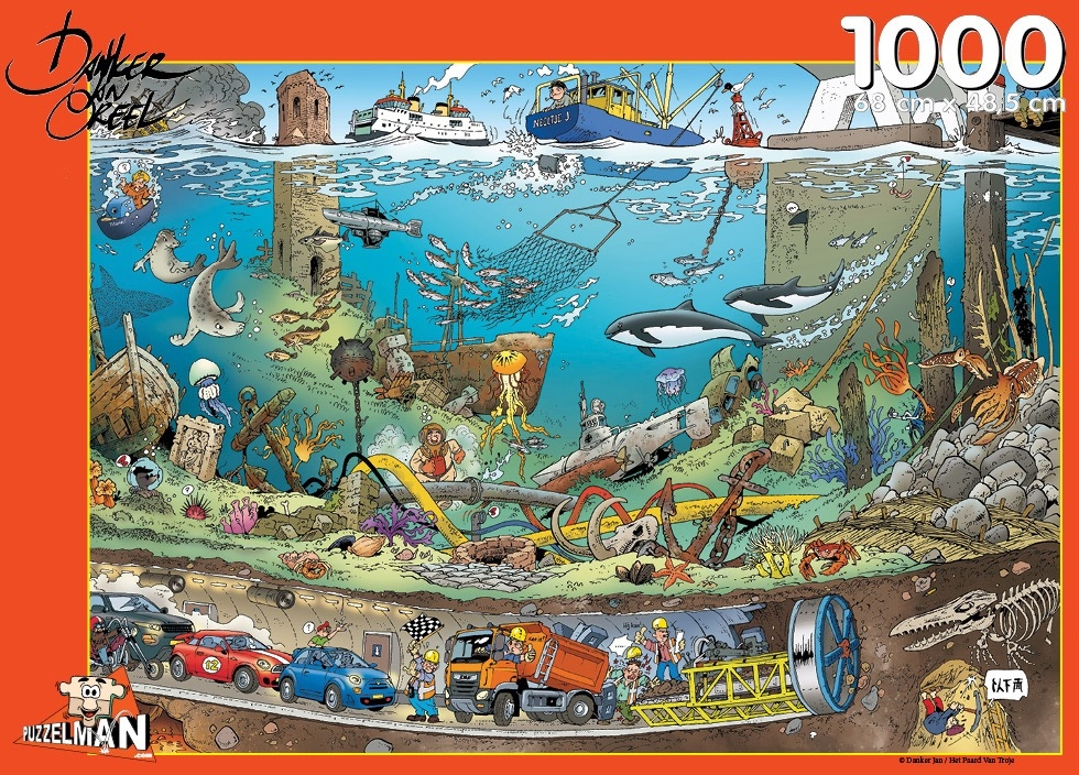 ,Puzzel puzzelman - onder water danker jan - 1000 stukjes