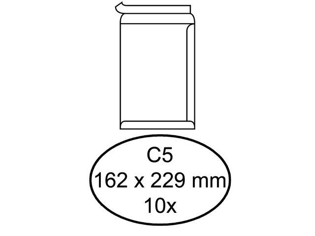 ,Envelop Quantore bank C5 162x229mm zelfklevend wit 10stuks