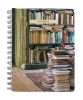 , At Home with Books Medium Spiral Notebook