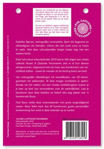 ,Illusies en Optische Fenomenen scheurkalender 2010