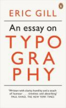 Eric Gill An Essay on Typography