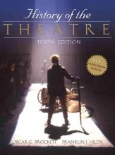 Brockett, Oscar Gross,   Hildy, Franklin J. History of the Theatre