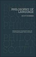 Scott Soames Philosophy of Language