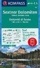 , Sextner Dolomiten, Dolomit di Sesto, Toblach, Dobbiaco, Innichen, San Candido, Lienz 1:50 000