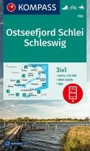 KOMPASS-Karten GmbH , KOMPASS Wanderkarte Ostseefjord Schlei, Schleswig 1:35 000