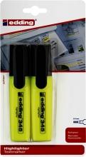 , Markeerstift edding 345 2-5mm blister à 2 stuks geel