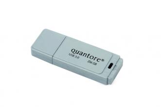 , USB-stick 3.0 Quantore 256GB zilver