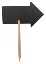 , Krijtbord Securit pijl 73x45cm met houten pin