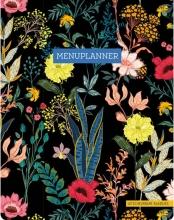 ZNU , Menuplanner - Floral Black