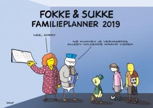 John  Reid, Bastiaan  Geleijnse, Jean-Marc van Tol Fokke & Sukke familieplanner 2019