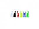 ,paperclips Alco 26mm hoekig plastic assorti doos 1000 stuks