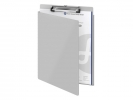 <b>klembord Westcott aluminium   A4 (9` x 12`) met beschermklep</b>,