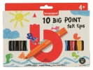 ,<b>Viltstift Bruynzeel Kids big point blister à 10 stuks assorti</b>