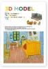,<b>De Slaapkamer van Van Gogh, bouwplaat</b>