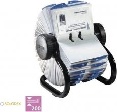 , Visitekaartenmolen Rolodex 67236 200 hoesjes zwart