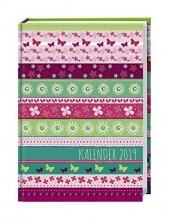 Streifen Floral Schülerkalender A6  - Kalender 2019