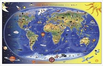 Kinderweltkarte Lernposter
