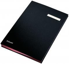 , Vloeiboek Esselte 6210 karton 20tabs zwart