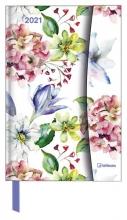 , Agenda 2021 teneues flower fantasy links week rechts notitie 10x15 cm magneetslu