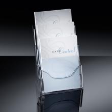 , folderhouder Sigel tafelmodel 3xA4 transparant acryl