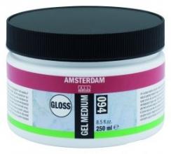 , Talens amsterdam gel medium glanzend pot 250ml