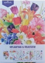 , Marjolein bastin verjaardags/felicitatiekaarten 6 kaarten + envelop