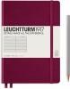 <b>Lt359691</b>,Leuchtturm notitieboek medium 145x210 lijn port red wijnrood