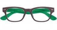 ,<b>Leesbril Woody Sel. G42300 Bruin/Groen 1.00</b>