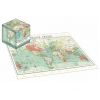 , 100 Piece Cube Jigsaw Vintage Map