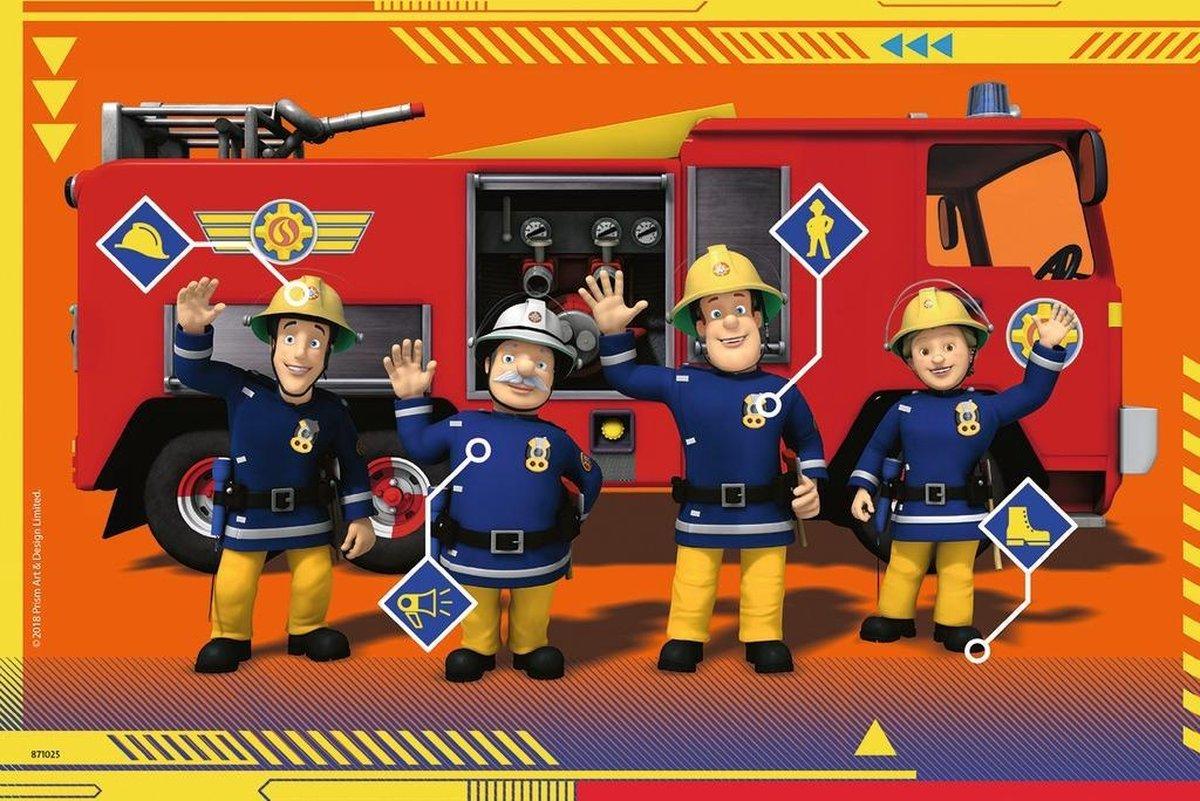 ,Puzzel ravensburger brandweerman sam in actie 2x 24 stukjes