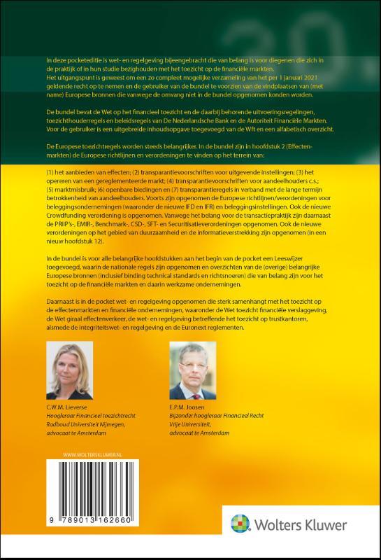 ,Wetgeving toezicht financiële markten 2021