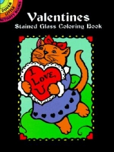Marty Noble Valentines Stained Glass Coloring Book