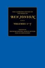 Jonson, Ben The Cambridge Edition of the Works of Ben Jonson 7 Volume Set