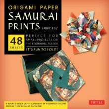 Tuttle Origami Paper Samurai Prints Large 8 1/ 4