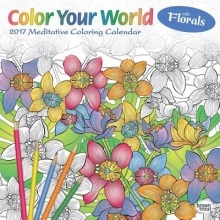 Color Your World Meditative Coloring With Florals 2017 Calendar