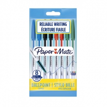 , Balpen Paper Mate Entry line 045 1.0mm assorti zakje à 8 stuks