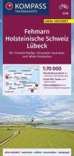 , KOMPASS Fahrradkarte Fehmarn, Holsteinische Schweiz, Lübeck 1:70.000, FK 3316